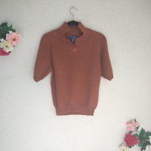 3/$30 Vintage Chunky Knit Short Sleeve Sweater